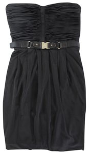 Gucci short dress black Belted Strapless on Tradesy