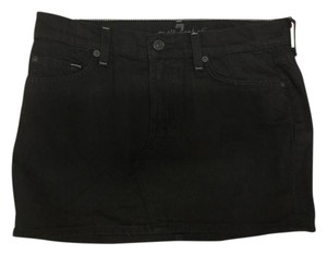 7 For All Mankind 7forallmankind Denim Denimskirt Mini Skirt Black