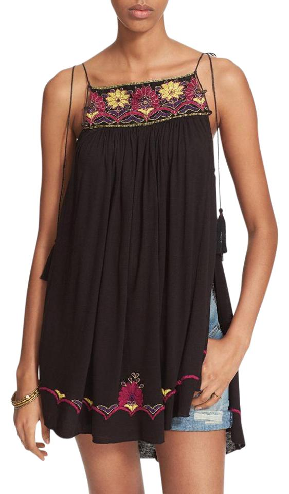 cbefd708046 Free People Strappy Tassels Sleeveless Embroidered Side Slits Tunic Image 0  ...