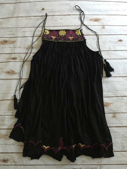 Free People Strappy Tassels Sleeveless Embroidered Side Slits Tunic Image 10