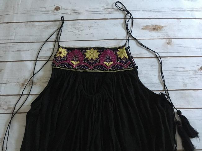Free People Strappy Tassels Sleeveless Embroidered Side Slits Tunic Image 11
