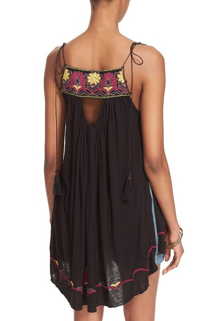 Free People Strappy Tassels Sleeveless Embroidered Side Slits Tunic Image 3