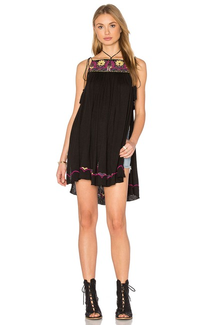 Free People Strappy Tassels Sleeveless Embroidered Side Slits Tunic Image 7