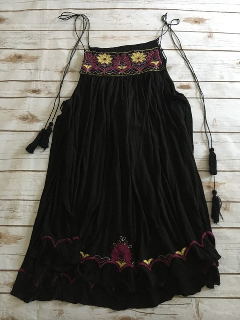 Free People Strappy Tassels Sleeveless Embroidered Side Slits Tunic Image 8