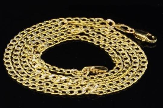 Preload https://item3.tradesy.com/images/10k-mens-25mm-yellow-gold-diamond-cut-miami-pave-cuban-chain-necklace-inch-2146497-0-0.jpg?width=440&height=440