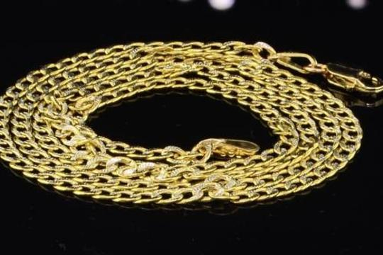 Jewelry For Less 10k Mens 2.5mm Yellow Gold Diamond Cut Miami Pave Cuban Chain Necklace Inch