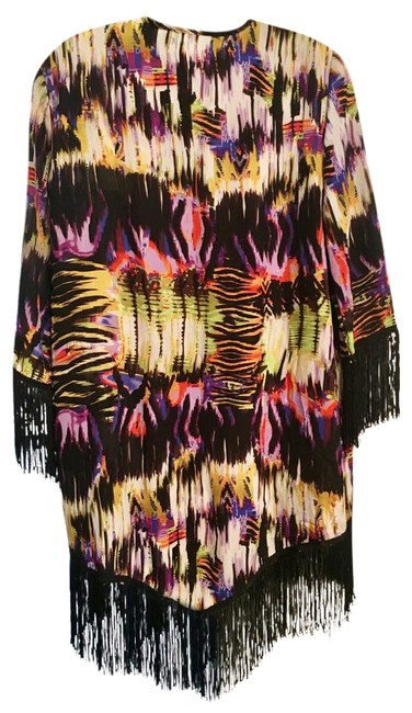 Preload https://img-static.tradesy.com/item/21465135/russell-kemp-multicolor-fringed-kimono-small-ponchocape-size-4-s-0-2-650-650.jpg