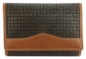Ted Lapidus Classic Folding Wallet Satchel in brown