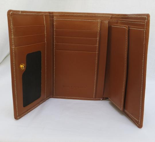 Ted Lapidus ntage TED LAPIDUS Brown Leather Wallet - NEW Image 1