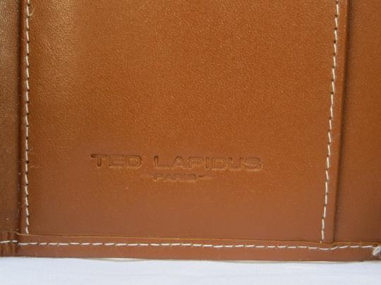 Ted Lapidus ntage TED LAPIDUS Brown Leather Wallet - NEW Image 4