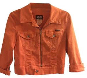 Dolce&Gabbana Denim Orange Jacket