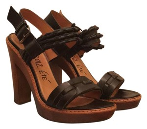 Lanvin Leather black Sandals
