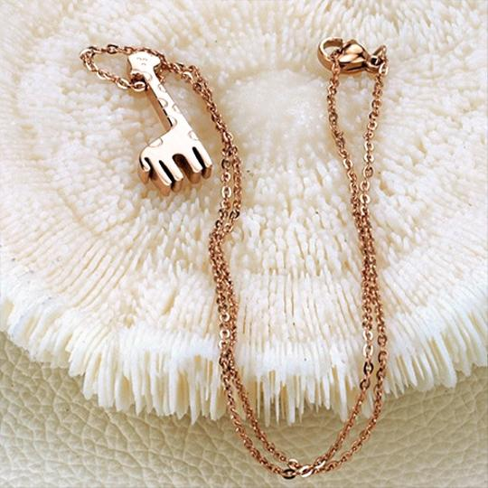 Other Mini Tall Giraffe Necklace 18k Rose Gold Plated Image 1