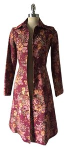 Anthropologie Bohemian Jacket Roses Flora Trench Coat