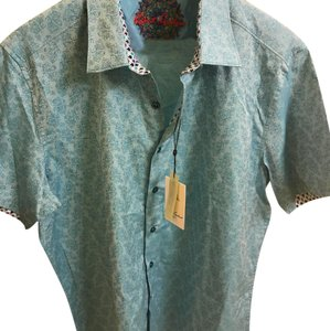 Robert Graham Men's Button Down Shirt Turquoise