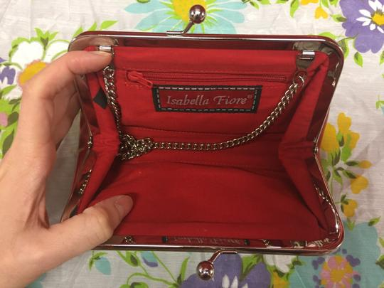 Isabella Fiore Purse Leather Patentleather red, white, blue, black Clutch Image 4