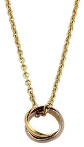 Cartier 13186 - CartierMini Trinity Rolling Ring Pendant in 18k Tri-Color Gold