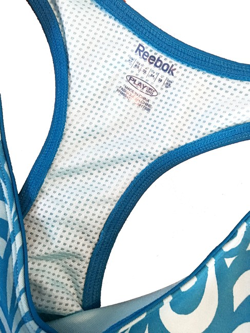 Reebok Reebok On the Move Printed Long Bra Top Image 2