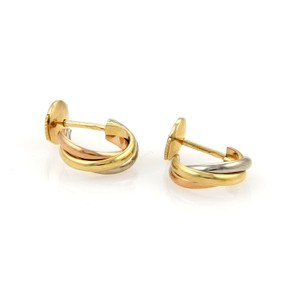 Cartier 17218 - Cartier Trinity 18k Tri-Color Gold Small Hoop Earrings