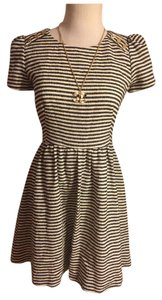 Juicy Couture short dress Black/White/Gold on Tradesy