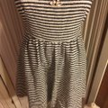 Juicy Couture Black/White/Gold Nwot-sz & Striped /Gold Logo Shoulder Button Sleeved Mid-length Short Casual Dress Size 4 (S) Juicy Couture Black/White/Gold Nwot-sz & Striped /Gold Logo Shoulder Button Sleeved Mid-length Short Casual Dress Size 4 (S) Image 9