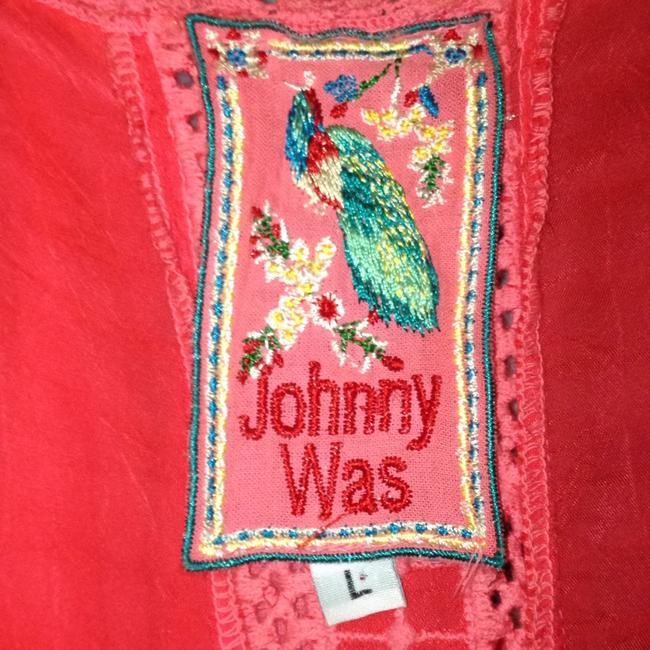 Johnny Was short dress pink Crochet Embroidered Scalloped V-neck Sleeveless on Tradesy Image 1