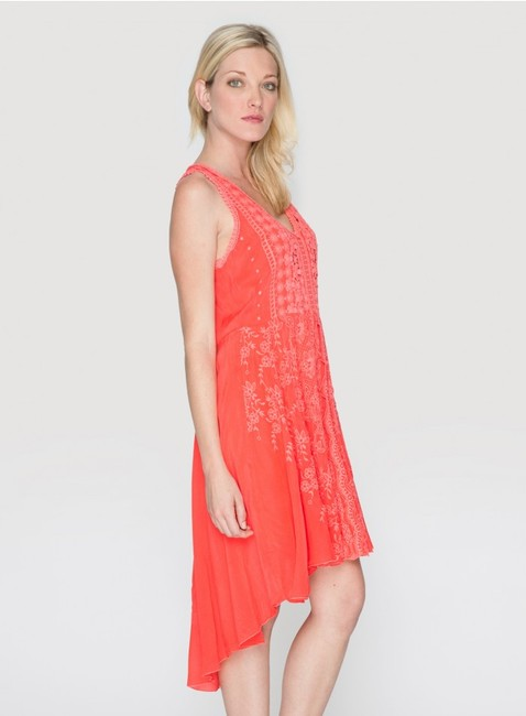 Johnny Was short dress pink Crochet Embroidered Scalloped V-neck Sleeveless on Tradesy Image 5