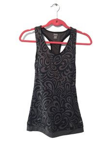 Reebok Reebok On the Move Printed Long Bra Top, Black / Gray