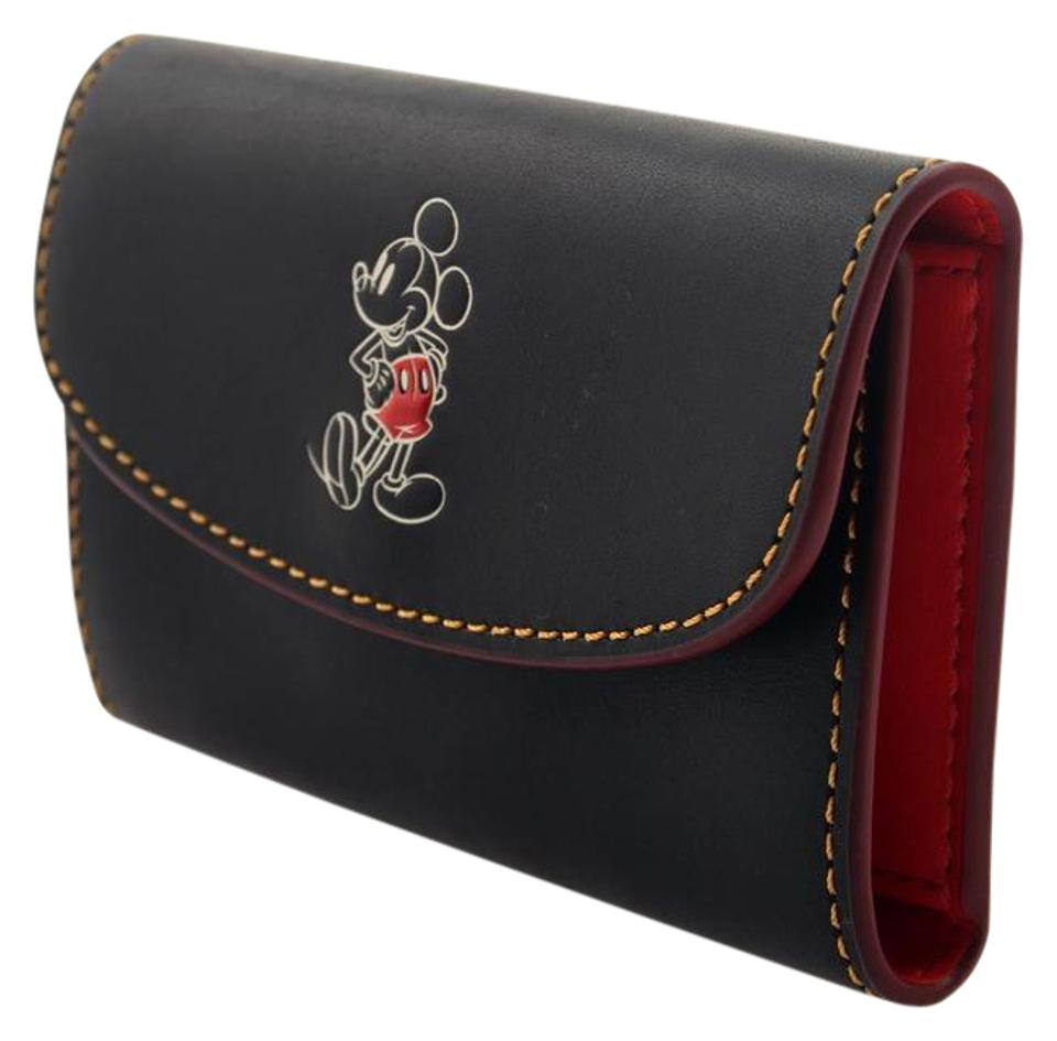 916257f773ff Coach New Key Case Wallet Calf Leather with Mickey - Tradesy