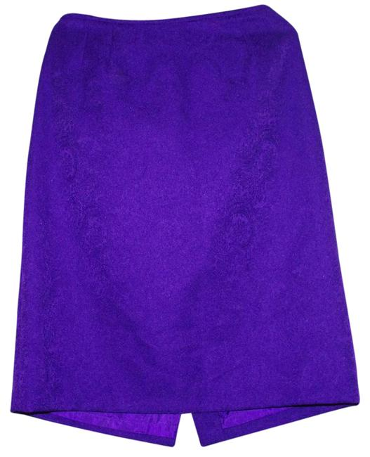 Item - Purple Collection By Polyester Lined Pencil Below Knee Skirt Size 16 (XL, Plus 0x)