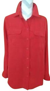 Central Park West Button Down Shirt Red