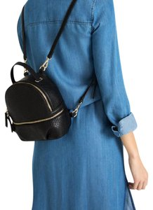b9fc2b18649 Zara Faux Leather Mini Pebbled Backpack - item med img