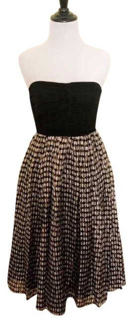 Zara Black and Brown Mid-length Cocktail Dress Size 4 (S) Zara Black and Brown Mid-length Cocktail Dress Size 4 (S) Image 1