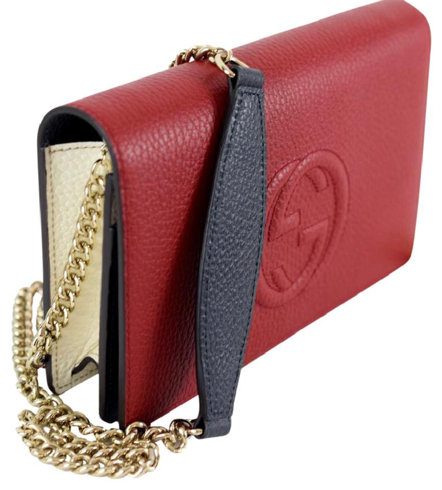 c2a289bdc7f Gucci Soho New Style Wallet On Chain Woc Red Leather Cross Body Bag ...