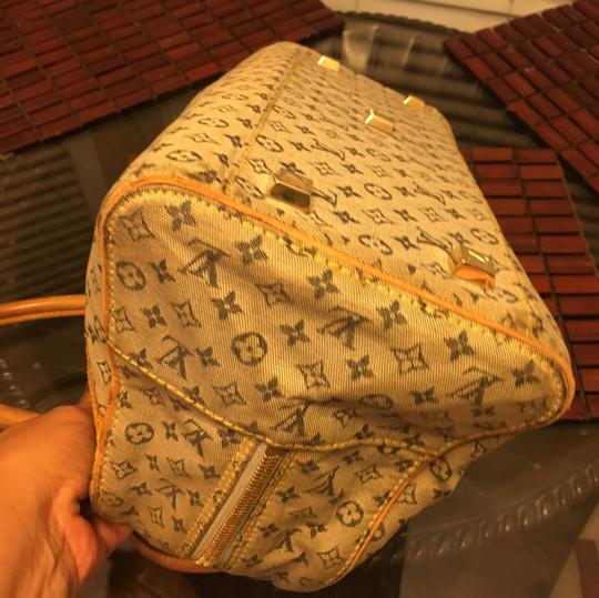 Louis Vuitton Satchel in blue Beige Image 4