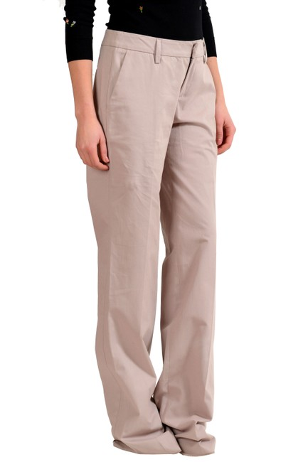 Just Cavalli Straight Pants Beige Image 1
