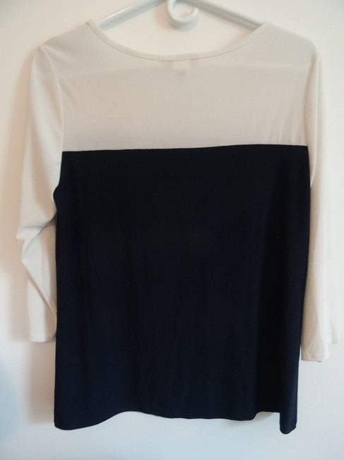 Claudia Richard Top cream top/navy blue bottom Image 1