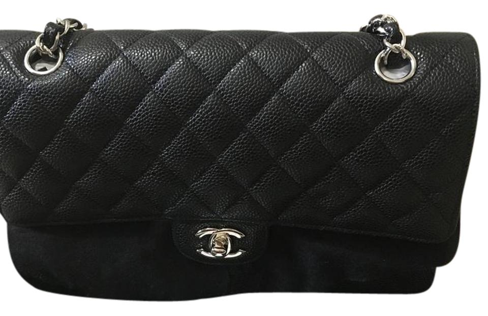 6e19293f54f9 Chanel Classic Double Flap Medium Black Caviar Shoulder Bag - Tradesy