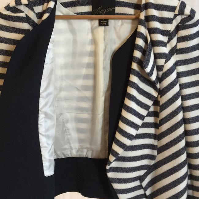McGinn navy off white striped Jacket Image 1