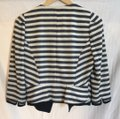 McGinn navy off white striped Jacket Image 2