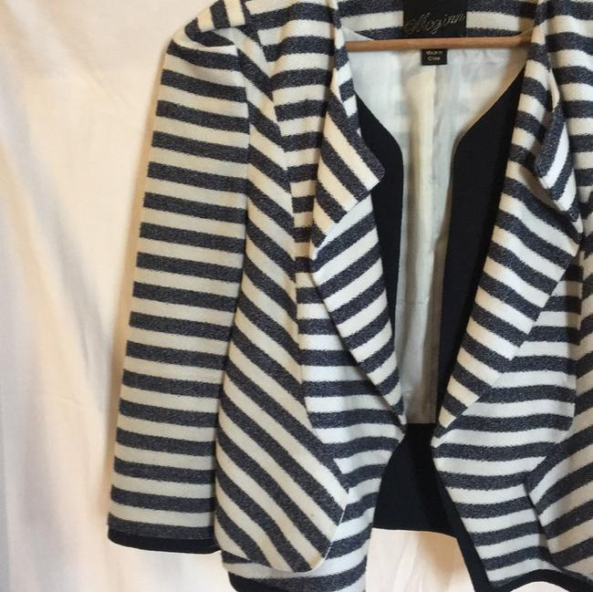 McGinn navy off white striped Jacket Image 8
