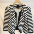 McGinn navy off white striped Jacket Image 9