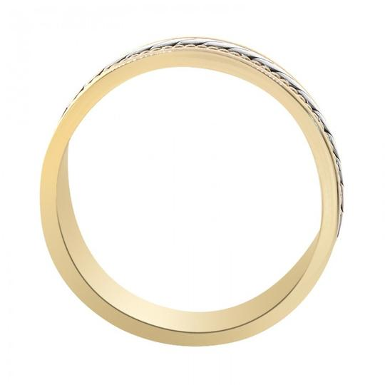 Avital & Co Jewelry 14k Two Tone Gold 7.0mm Comfort Fit Men's Wedding Band Image 1