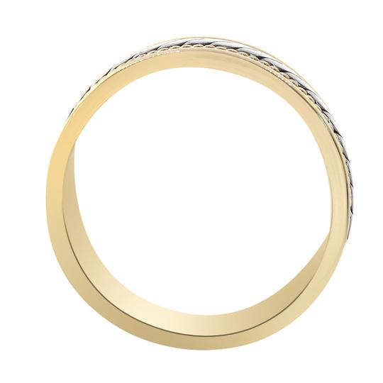 Avital & Co Jewelry 14k Two Tone Gold 7.0mm Comfort Fit Men's Wedding Band Image 3
