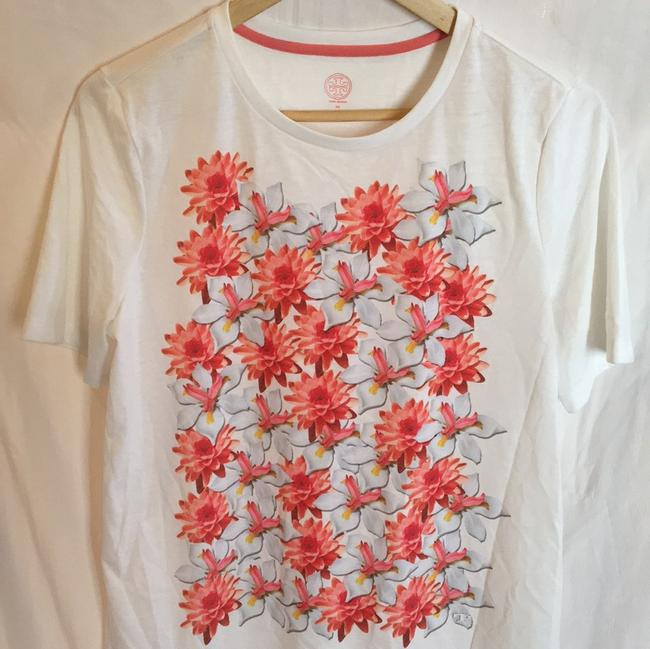 Tory Burch T Shirt white, pink floral Image 10