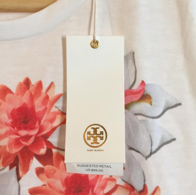 Tory Burch T Shirt white, pink floral Image 3