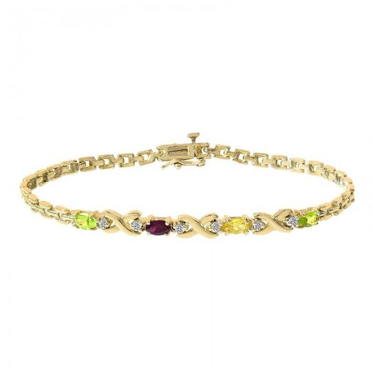 Preload https://img-static.tradesy.com/item/21467373/avital-and-co-jewelry-14k-yellow-gold-006-carat-diamond-and-multicolor-stones-bracelet-0-0-540-540.jpg