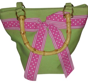 Queen Esther Etc Tote in lime green