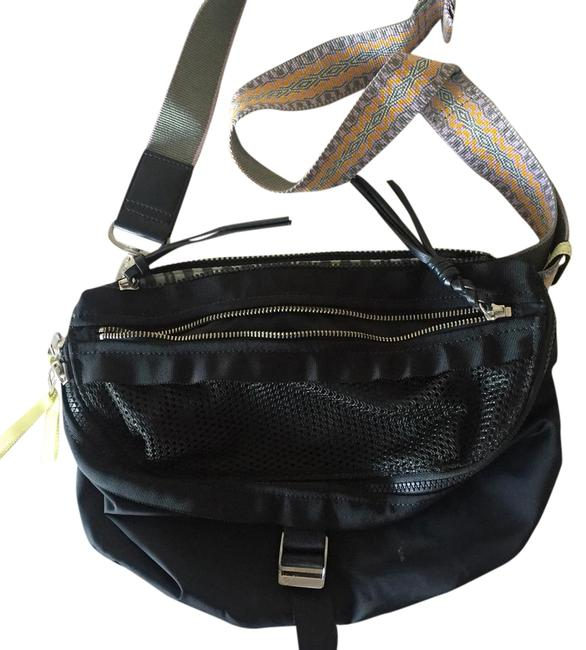 Item - Lulu Black with Colored Should Strap Cross Body Bag