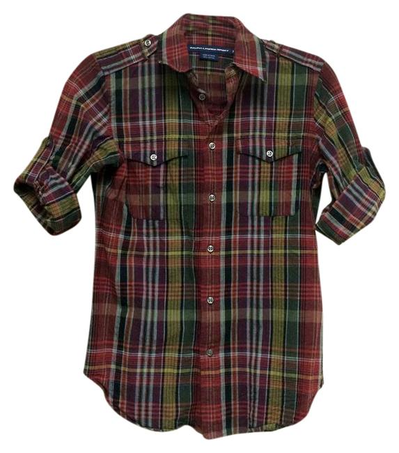 Preload https://img-static.tradesy.com/item/21467570/maroon-plaid-34-sleeves-button-down-top-size-6-s-0-1-650-650.jpg